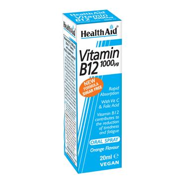 HEALTH AID VITAMIN B12 1000UG ORAL SPRAY 20ML