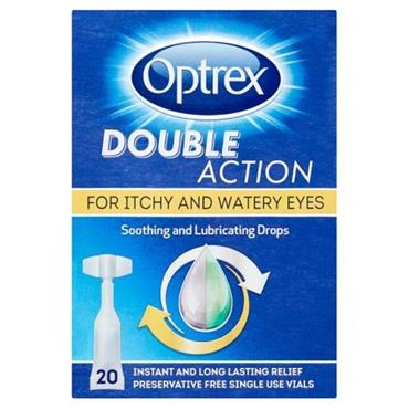 OPTREX DOUBLE ACTION SOOTHING AND LUBRICATING EYE DROPS (20 PACK)
