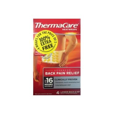 THERMACARE BACK WRAP 4PACK