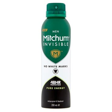 MITCHUM MEN INVISIBLE 48HR PURE ENERGY 200ML
