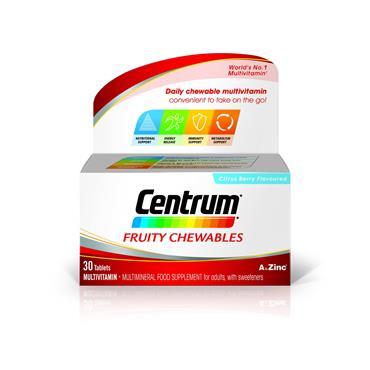 CENTRUM FRUITY CHEWABLES 30