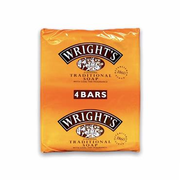 WRIGHTS TRADITIONAL COAL TAR SOAP (4 PACK)