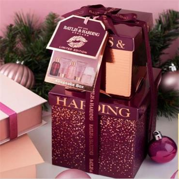 BAYLISS & HARDING CRANBERRY MARTINI STACK GIFT SET