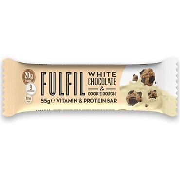 FULFIL WHITE CHOC N COOKIE DOUGH PROTEIN BAR 60G
