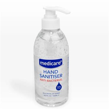 MEDICARE ANTI-BACTERIAL HAND SANITISER 500ML