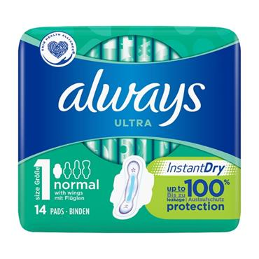 ALWAYS ULTRA NORMAL PADS 14 PACK