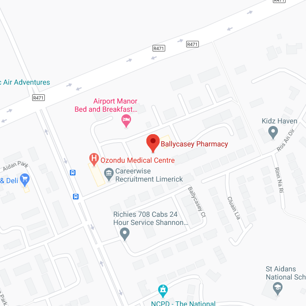 Pharmacy Store at Ballycasey location map