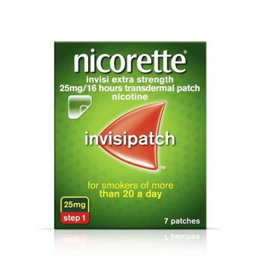NICORETTE NICORETTE INVISI EXTRA STRENGTH 25MG/16 HOURS TRANSDERMAL PATCH 7 PATCHES