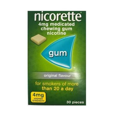 NICORETTE NICORETTE 4MG MEDICATED CHEWING GUM 30 PIECES