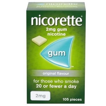 NICORETTE NICORETTE 2MG MEDICATED CHEWING GUM 105 PIECES