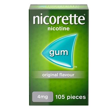 NICORETTE NICORETTE 4MG MEDICATED CHEWING GUM 105 PIECES