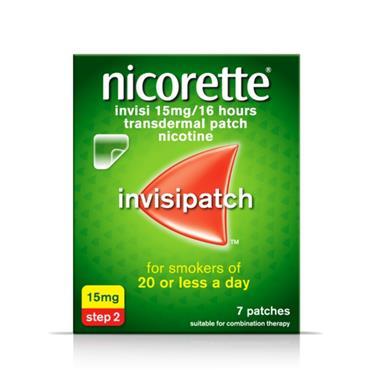 NICORETTE NICORETTE INVISI 15MG/16 HOURS TRANSDERMAL PATCH 7 PATCHES