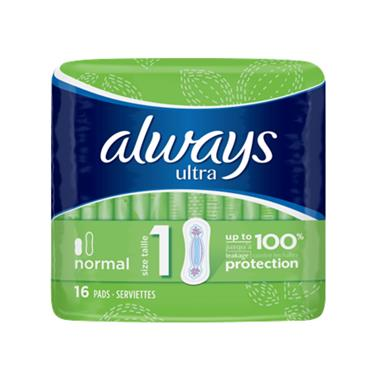 ALWAYS ULTRA NORMAL PADS 16S