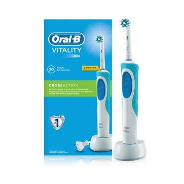 ORAL B ORAL B VITALITY CROSS ACTION RECHARGEABLE TOOTHBRUSH