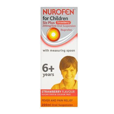 NUROFEN NUROFEN FOR CHILDREN STRAWBERRY 200MG/5ML  SUSPENSION 200ML