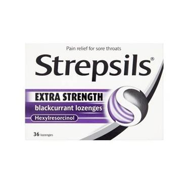 STREPSILS STREPSILS EXTRA BLACKCURRANT LOZENGES 24 PACK