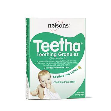 NELSONS TEETHA TEETHING GRANULES 24 SACHETS
