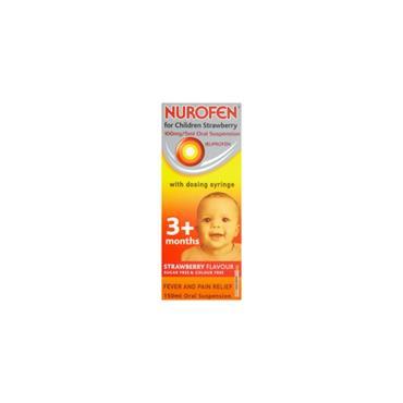 NUROFEN NUROFEN FOR CHILDREN STRAWBERRY SUSPENSION SYRINGE 150ML