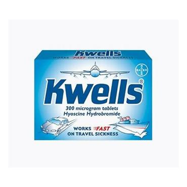 KWELLS KWELLS 300MCG TRAVEL SICKNESS TABLETS 12 PACK