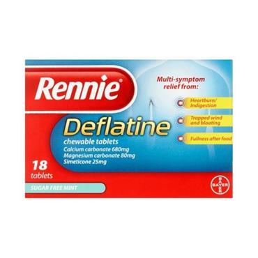 RENNIE RENNIE DEFLATINE CHEWABLE TABLETS 18 PACK