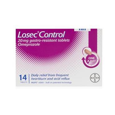 LOSEC LOSEC CONTROL 20MG OMEPRAZOLE TABLETS 7 PACK
