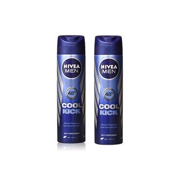 NIVEA NIVEA MEN COOL KICK ANTI-PERSPIRANT 150ML TWIN PACK