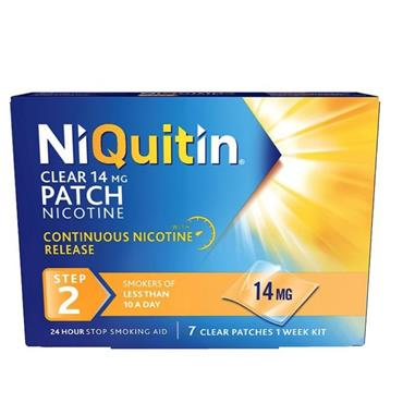 NIQUITIN NIQUITIN 14MG/24 HOURS TRANSDERMAL PATCHES STEP TWO 7 PATCHES