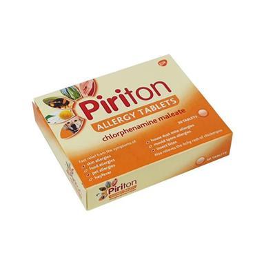 PIRITON PIRITON 4MG ALLERGY TABLETS 30 PACK