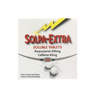 SOLPA- EXTRA SOLPA-EXTRA 500MG/65MG SOLUBLE TABLETS 24 PACK