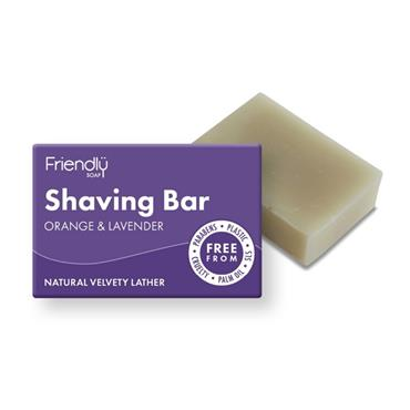 FRIENDLY SOAP FRIENDLY SOAP SHAVING BAR ORANGE & LAVENDER