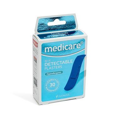 MEDICARE MEDICARE BLUE DETACTABLE PLASTERS 30 PACK