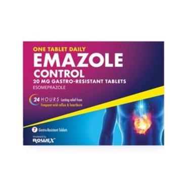 EMAZOLE EMAZOLE CONTROL 20MG ESOMEPRAZOLE TABLETS 7 PACK