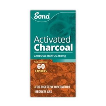 SONA ACTIVATED CHARCOAL 260MG CAPS