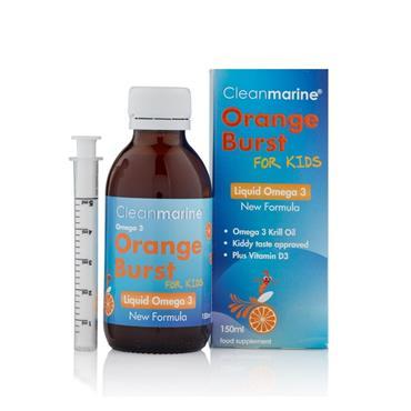 CLEANMARINE CLEANMARINE FOR KIDS ORANGE BURST LIQUID OMEGA 3 150ML