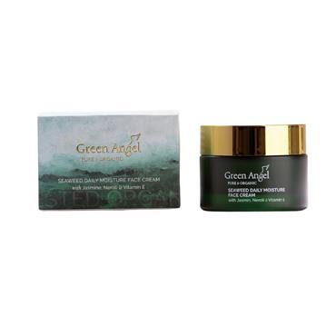 GREEN ANGEL GREEN ANGEL SEAWEED DAILY MOISTURE FACE CREAM WITH JASMINE, NEROLI & VITAMIN E  50ML