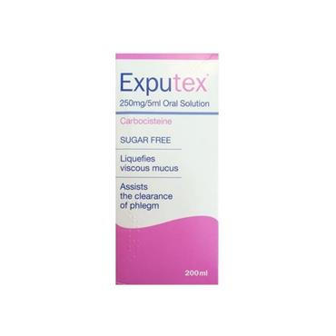 EXPUTEX EXPUTEX 250MG/5ML SUGAR FREE ORAL SOLUTION 200ML