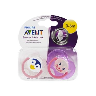 AVENT AVENT CLASSIC 0-6M SOOTHERS 2 PK