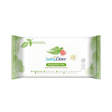 DOVE DOVE BABY BIODEGRADABLE WIPES 75 PACK