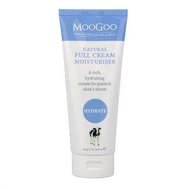 MOOGOO NATURAL FULL CREAM 200G MOISTURISER