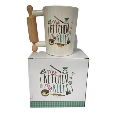 MY KITCHEN MY RULES ROLLING PIN MUG