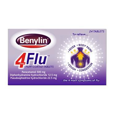 Benylin Four Flu Tablets 24 Pack