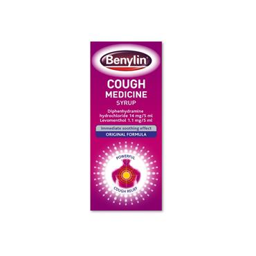 Benylin Cough Medicine 125ml (Diphenhydramine, Levomenthol)