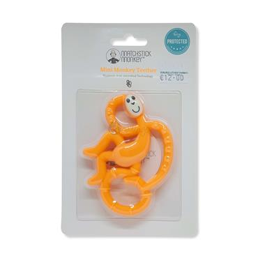 Matchstick Monkey Mini Monkey Teether (Orange)