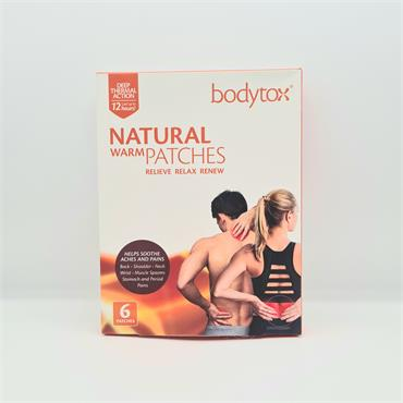 Bodytox Natural Warm Patches - 6 Pack