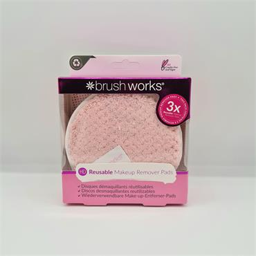 Brush Works Reusable Mkeup Remover Pads - 3 Pack