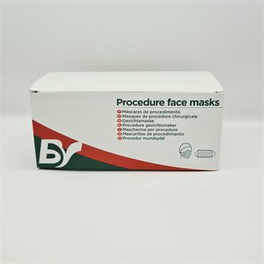 BV Surgical Face Masks Green - 50 Pack