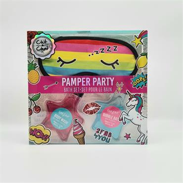 Chit Chat Pamper Party Bath Set including Sleeping Mask