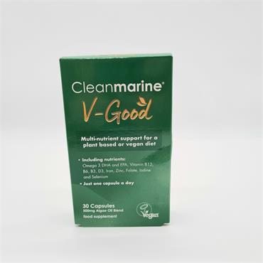 Cleanmarine V-Good Capsules 30 Vegan Friendly