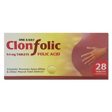 Clonfolic Tabs 0 4Mg Folic Acid