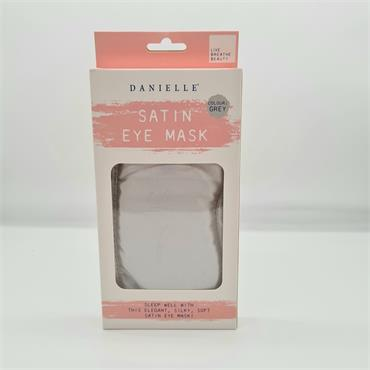Danielle Satin Eye Mask - Grey